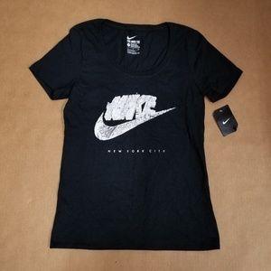 Nike Swoosh New York City Black T-Shirt Women's S